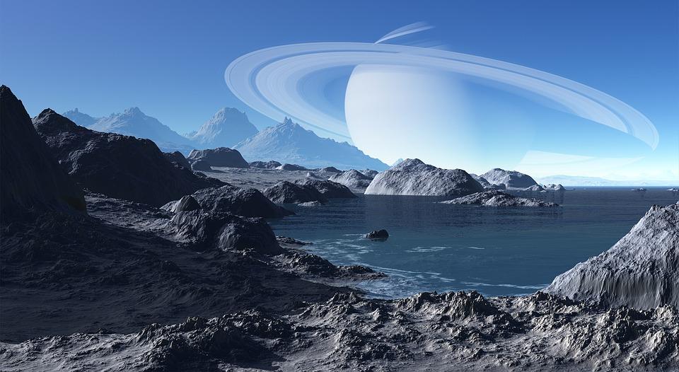 Dot2010RockLandwithSaturn - Forschung entdeckte die Jahreszeiten des Saturns